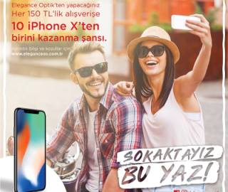 Elegance Optik iPhone X Çekilişi