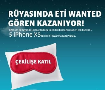 ETİ Wanted iPhone XS Çekilişi