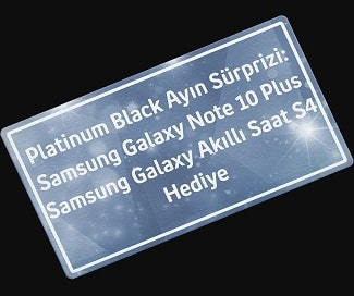 Platinum Black Galaxy Note 10 Çekilişi
