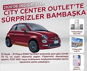 City Center Fiat 500 Çekilişi